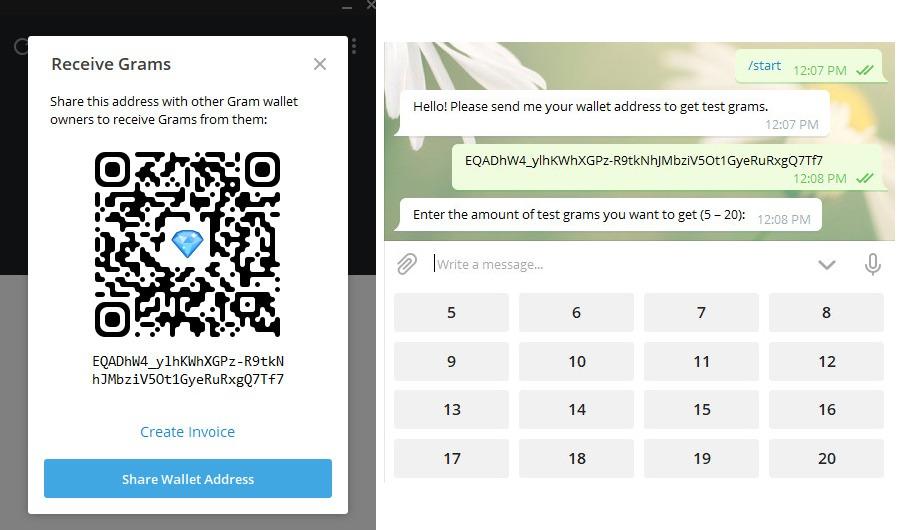 انتقال رمز ارز گرم به کیف پول تلگرام