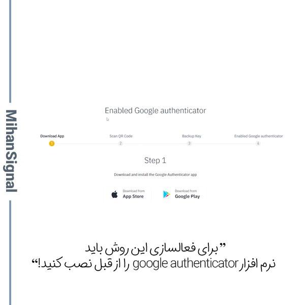 روش google authenticator