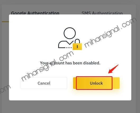 با مشاهده پنجره زیر دکمه unblock را برای شروع فعالسازی مجدد بزنید.