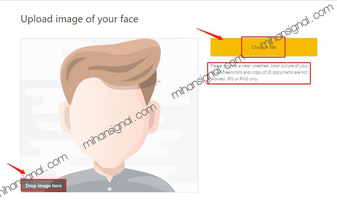 در مرحله بعد باید تصویر چهره خود را نیز با همین روش ارسال نمایید.