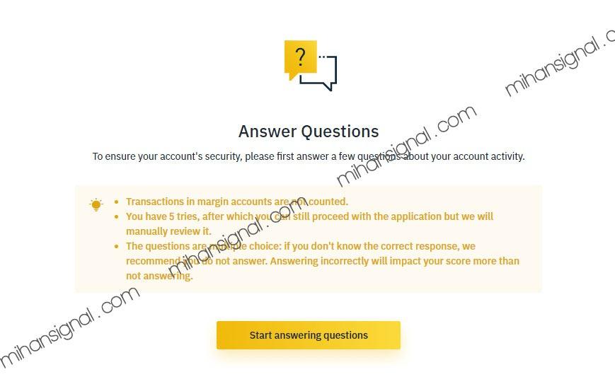 گزینه start answering questions را بزنید