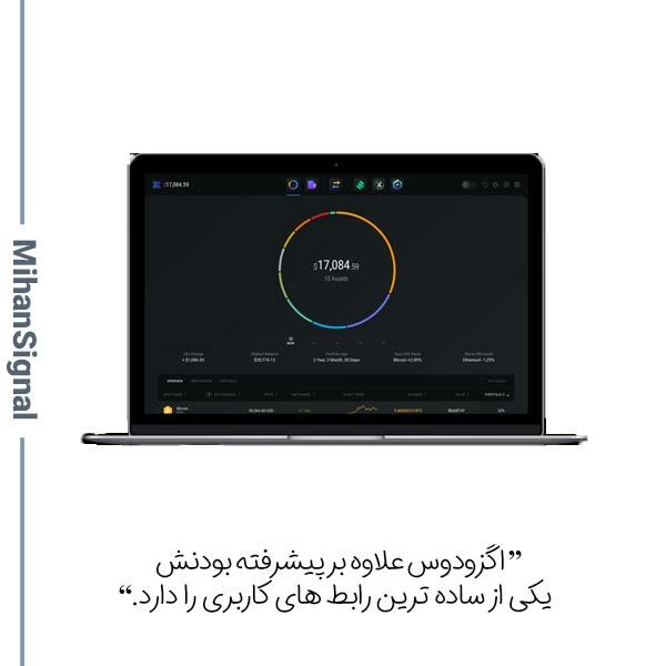 اگزودوس علاوه بر پیشرفته بودنش یکی از ساده ترین رابط های کاربری را دارد