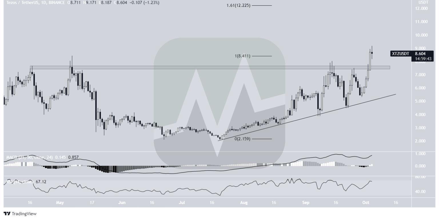 نمودار یک روزه قیمت تزوس / تتر